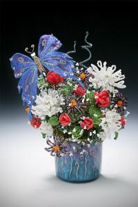 Схемы плетения из бисера цветов размещены в интернете в большом количестве.  Представлены и самые маленькие и простые...