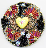 Enamelist & Beader Karen L. Cohen - Pocket Mirrors :  mirrors mirror beaded hand made