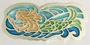 mermaid button plique a jour